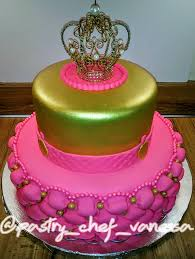 gold u0026 pink princess baby shower billowing cake top view