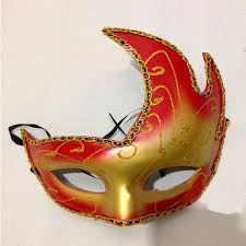 carnival masks fox venice carnival mask pvc colored drawing party