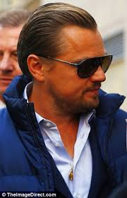 leonardo dicaprio hairstyle name single leo looks dapper with beard trimmed and hair slicked back