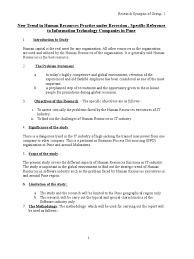 hr recruitment resume sample synopsis format business science