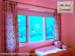 Easy Sew Curtains Fast Easy Cheap No Sew Curtains Home Everyday
