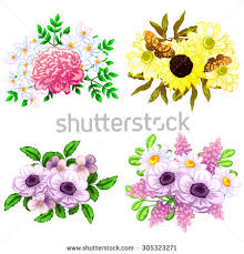 All About Flowers - flower set stock vector 305323271 shutterstock