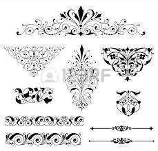 ornament set set of black vector ornaments scrolls repeating