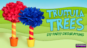 Dr Seuss Decorations Dr Seuss Birthday Party U2013 Diy Truffula Trees Party Ideas