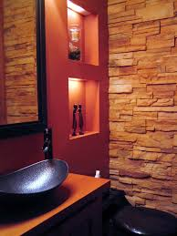 bathrooms design spiral pendant lamps small rustic bathroom