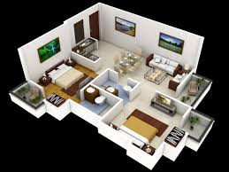 Bedroom 3d Design Small House Design 2 Bedroom 3d Images Also Charming Front View