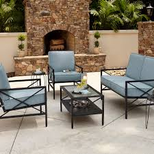 Kmart Patio Table Patio Set Kmart Luxury Essential Garden Anniston Blue 4