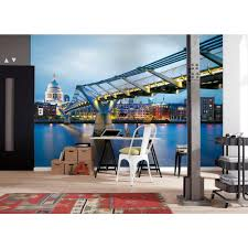 japanese waves wall mural wals0237 the home depot millennium bridge wall mural