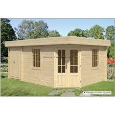 bureau de jardin en kit abri de jardin toit plat pas cher bureau exterieur kit helge 45mm