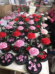 alibaba direct exports decoration items everlasting golden rose
