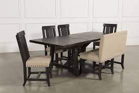 jaxon 6 piece rectangle dining set w bench u0026 wood chairs living