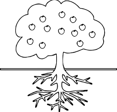 coloring pages apple pattern apple tree coloring pages tree