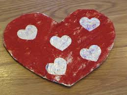 valentine foil heart kids craft cafemom