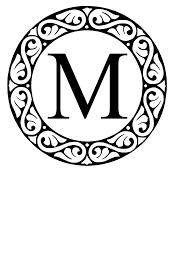 monogram websites m circle monogram clip at clker vector clip online