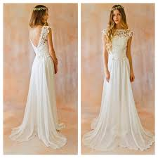 flowy wedding dresses 2 lace silk chiffon bohemian wedding dress open