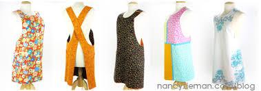 mulari shares new criss cross reversible apron pattern