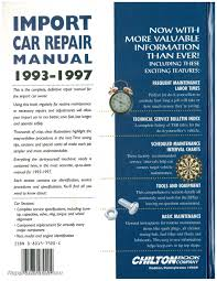 chilton import car repair manual 1993 1997 ch7920 ebay