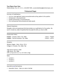 singer resume template acting resume template build your own