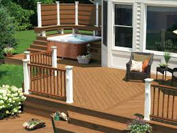 Backyard Deck Designs Pictures by Entrancing Backyard Deck Designs With Tub Interior Home Design