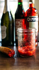 campari negroni strawberry basil pink peppercorn negroni earthy feast