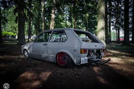 volkswagen golf custom vw rabbit golf mk i sitting on custom beetle frame is a rear