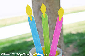 popsicle stick candles kid craft glued to my crafts