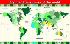 Time Zone Map World Clock by World Map Continents And Oceans Inside World Map With Continents