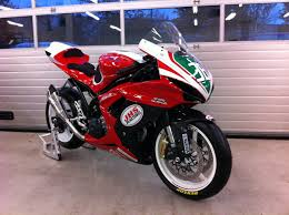 our friends at jhs racing have dropped off this supertwin prepared