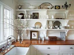 kitchen creative kitchen shelves instead of cabinets home design