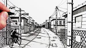 how to draw a road 1 point perspective drawing narrated youtube