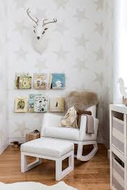 Deer Rug For Nursery Glider Rocker Nursery Contemporary With Area Rug Book Ledges Deer