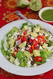 Garden Salad Ideas Mexican Chopped Salad With Lime Cilantro Dressing Jeanette S