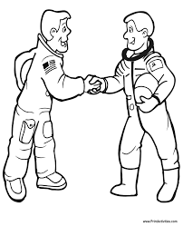 astronaut coloring page astronaut coloring page 2 astronauts shaking hands