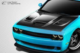 hellcat challenger 2016 2008 2016 dodge challenger carbon fiber hellcat look hood 1