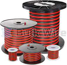 red black bonded zip cord easy id low voltage cable bulk wire