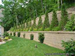 Backyard Retaining Wall Ideas Excellent Small Backyard Retaining Wall Photo Inspiration Amys