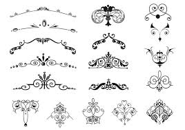 vintage border and ornament brushes pack free photoshop brushes at