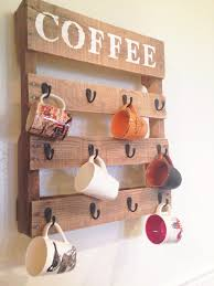Pallet Furniture Kitchen Free Up Some Cupboard Space With This Rustic Coffee Mug Rack Its