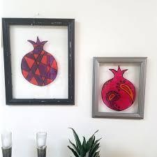 sukkah decorations diy sukkah decoration stained glass pomegranates beyond the balagan