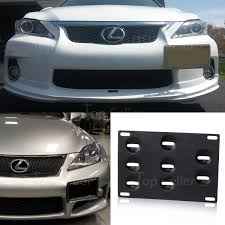 lexus gs 460 especificaciones front bumper tow hook license plate mounting bracket adapter for