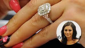 Huge Wedding Rings by Jwoww Wedding Ring Celebrity Engagement Rings Huge Engagement