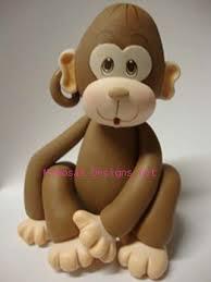 monkey cake topper monkey cake topper animales 2 fondant figuras de