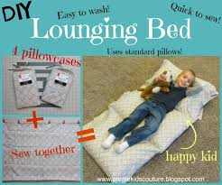 pillow bed for kids create kids couture pillowcase lounging bed