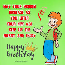 Happy Birthday Wisdom Wishes Birthday Wishes For Teenager Cards Wishes