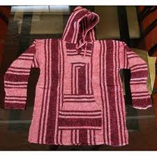 online auction for guatemala mayan hoodie poncho sweater pink wool