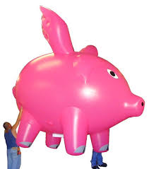 pig balloons custom shaped inflatables parade balloons