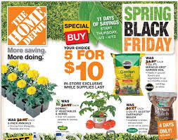 home depot black friday add home depot black friday spring sale save on mulch plants charcoal