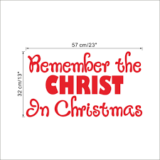 Christian Christmas Window Decorations by Aliexpress Com Buy Remember Christ In Christmas Store Window