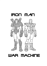 iron man and war machine by gundamu on deviantart