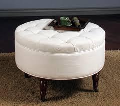black leather storage ottoman with tray coffee table round tufted storage ottoman coffee table design
